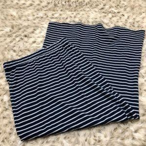 Splendid Skirts - Splendid Venice sideslit striped maxi skirt blue